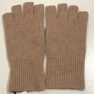 Halogen 100% Cashmere Rib Knit Fingerless Gloves